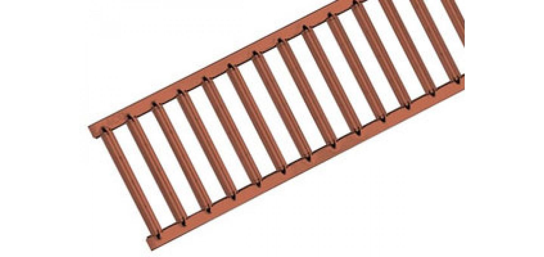 310305 Решетка из оцинкованной стали с порошковым покрытием терракота